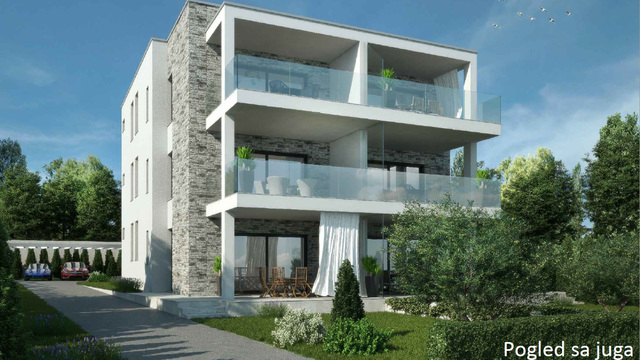 Apartment with pool in the first row by the sea, Turanj area